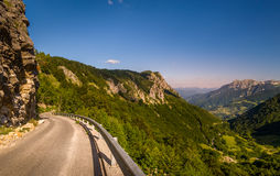 Curved mountain road stock image
