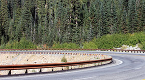 Curved Mountain Road Stock Photo