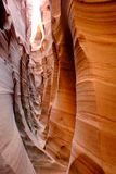 Curved narrow walls of Zebra slot canyon. Stock Photography