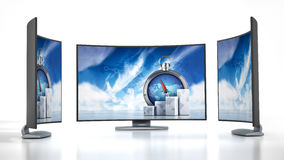 Curved new generation TV Stock Photography