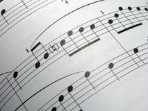 Curved Notes. OLYMPUS DIGITAL CAMERA Stock Images