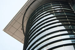 Curved office building in Glasgow, Scotland, UK Royalty Free Stock Photos