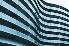 Curved office building surface Stock Photo