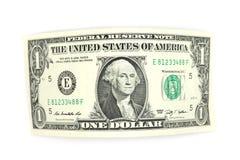 Curved one dollar bill Stock Photos