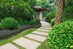Curved outdoor pathway Royalty Free Stock Images