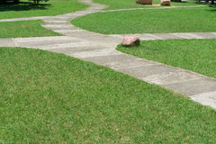 Curved outdoor pathway Stock Photography