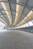 Curved overpass walkway Royalty Free Stock Photography