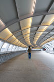 Curved overpass walkway Royalty Free Stock Photos