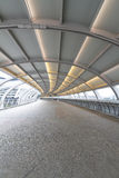 Curved overpass walkway Royalty Free Stock Images