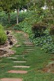 A Curved Path In Nature Royalty Free Stock Photos