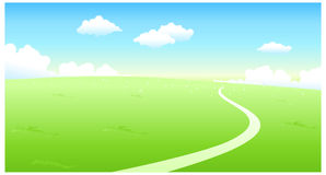 Curved path over green Stock Photography