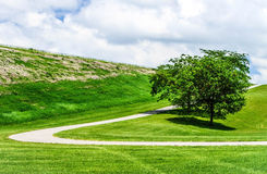 Curved Path to the Clouds Royalty Free Stock Photo