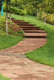 Curved Stone Path Stock Images