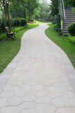 Curved pathway in outdoor Stock Photos
