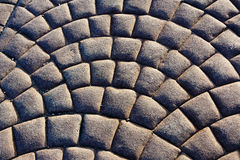 Curved Pattern of Paver Stones Forming Arcs Stock Images