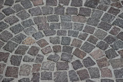Curved pavement. Fancy curved outdoor paving in the sity. Abstract background texture Stock Images