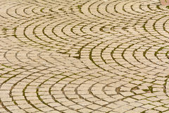 Curved paving stones pattern Royalty Free Stock Photos
