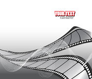 Curved photographic film Stock Image