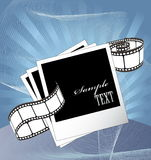 Curved photographic film and film blanks. Vector Royalty Free Stock Photography