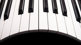 Curved piano keys Royalty Free Stock Image