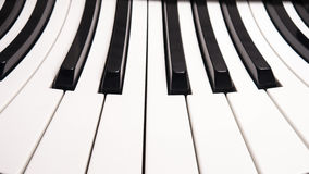 Curved piano keys Royalty Free Stock Photography