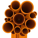Curved pipes Royalty Free Stock Photo