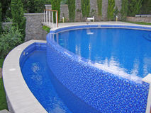 Curved pool foto. Stock Photography