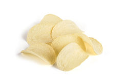 Curved potato chips. Isolated Royalty Free Stock Photos