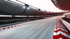 Free Curved Race Track With Speed Motin Blur Stock Photo - 124400220