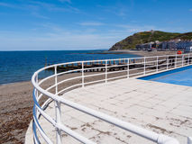Curved Railings at Aberystwyth Stock Photos