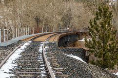 Curved Railroad Bridge Royalty Free Stock Image