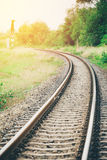 Curved railroad Royalty Free Stock Image