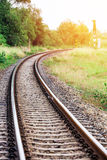 Curved railroad Royalty Free Stock Photos