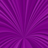 Curved ray background - vector graphic from striped rays in purple tones. Curved ray burst background - vector graphic from striped rays in purple tones Stock Images