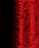 Curved red lines on black Stock Photo