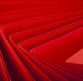 Curved red paper Royalty Free Stock Images