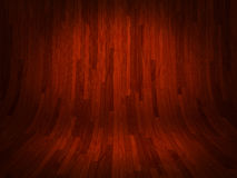 Curved red wooden background illustration Stock Image
