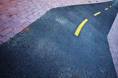 Curved road. A curved tarmac road Royalty Free Stock Photos