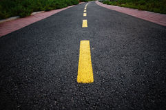 Curved road. A curved tarmac road Royalty Free Stock Photo