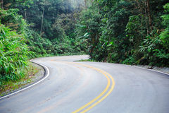 Curved road Royalty Free Stock Photos