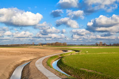 Curved road for bikes under blue sky Royalty Free Stock Photos