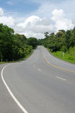 Curved road and green tree Stock Images