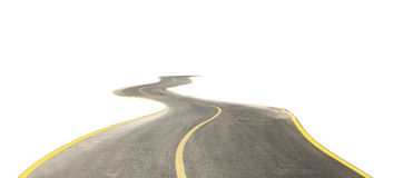 Free Curved Road Isolated On White Royalty Free Stock Photos - 98644078