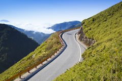 Curved Road in the mountain Royalty Free Stock Photo