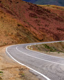 Altai: curved mountain road Stock Photo