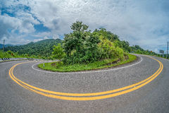 Curved road in Thailand. Curve road, Highway / Road in Nan Thailand, Curved road in Nan Thailand Stock Photos