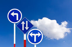 Curved Road Traffic Sign Stock Photo