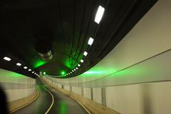 Curved road in tunnel Royalty Free Stock Photo