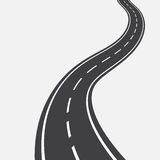 Curved road with white markings. illustration vector illustration