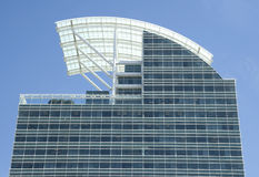 Curved Roof and Blue Glass Royalty Free Stock Photography